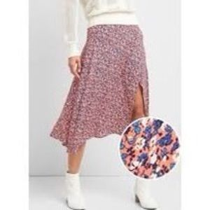 Gap - Pink Floral Flowy Skirt with Slit